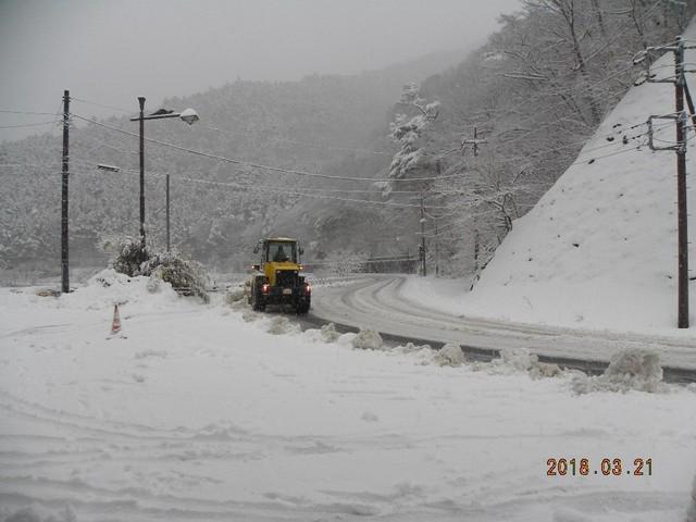 180321-2裏道路雪今日2度目の雪かき